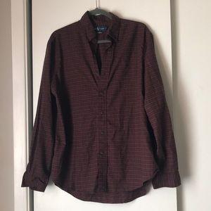 Ralph Lauren plaid shirt custom fit size L